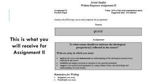 essay writing social studies ppt video online  10 this is what you will receive for assignment ii