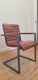 industrial chic titus vintage retro leather chair like new house clearance