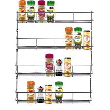 Tier Spice Rack 3 4 5 6 Tier Chrome Spice Rack Herb Jar Rack Holder For Wall Or
