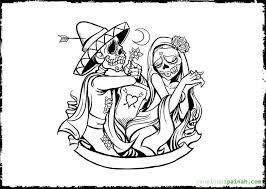 Day Of The Dead Coloring Pages Free Get Coloring Pages