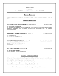 sample resume for firefighter position