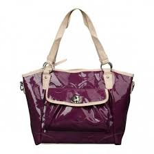 Coach Bleecker Riley Carryall Small Purple Satchels ECD