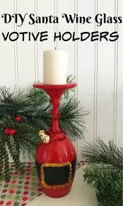 hand painted wine glasses diy santa wine glasses votive holders