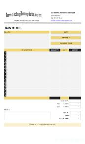snow removal billing format ad agency bill format