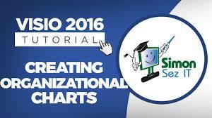 How To Create An Org Chart Using Visio 2016