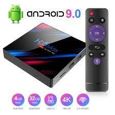 Android 9.0 TV Box Q Plus Smart Media Box 4GB RAM 32GB ROM RK3318 Quad Core  Bluetooth 4.2 WiFi 2.4G & 5G Ethernet 1USB 3.0 & 1USB 2.0 Set Top Box  Support