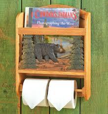 Wooden Toilet Paper Holder Magazine Rack Wood Bear Toilet Paper Holder and Magazine Rack 2