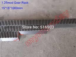 1Pcs 1.25 Mod 15*15*1000mm Gear Rack <b>Precision CNC</b> Rack ...