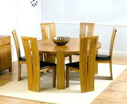 medium size of solid wood dining table and 6 leather chairs used oak extending round furniture