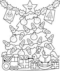 Presents Under Tree Free Coloring Pages