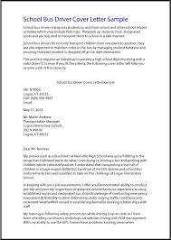 Driver Cover Letters Great Sample Resume School Bus Driver Cover Letter Sample