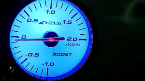 youtube com Wire Gauge el apexi boost gauge white colour with turquoise backlight