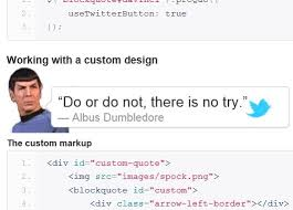 Html Quote Adorable JQuery Plugin For Turning Html Content Into Tweetable Quotes