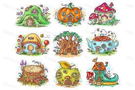 Cute Cartoon Elven Houses