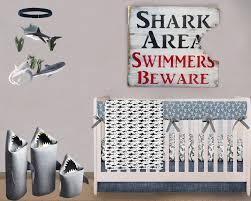 shark baby nursery theme decorating