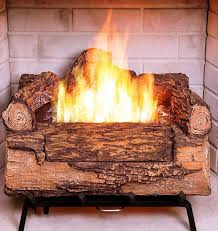 artificial fire logs fake fireplace battery operated nice