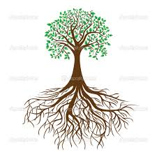 Small Picture Tree With Roots Coloring Pages