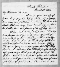 Lewis Fields Linn to Andrew Jackson, December 21, 1842 | Library of Congress
