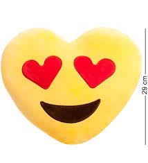 подушка сердце lovely joy смайлик любовь ek 01 25237 желтый