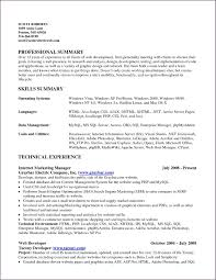 Summary Of Skills Resume Examples summary of skills resume example Savebtsaco 1