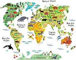 Image Decorating Ideas Homeevolution Large Kids Educational Animal Landmarks World Map Peel Stick Wall Decals Stickers Home Decor Amazoncom Amazoncom Yellow Home Décor Accents Home Décor Home Kitchen