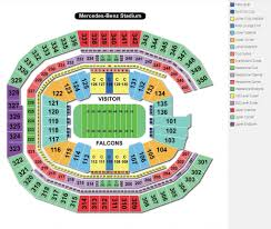 Benz Seating Chart Falcons Stadium Seating Chart Seating Chart