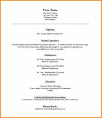 Blank Resume Forms Combination Format Blank Resume Template Free Pdf