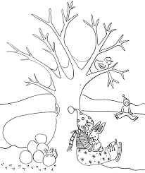 Small Picture Kids In The Winter Coloring Pages Winter Coloring pages of
