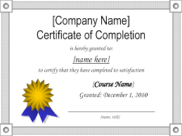 Certificate Of Completion Template Powerpoint - Mandegar.info