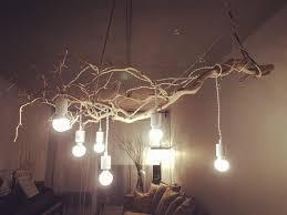 lovely diy wood chandelier