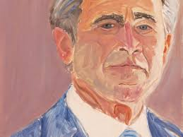 the former president s art of leadership series features portraits of merkel blair putin and other influential politicians