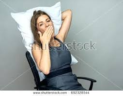 office sleeping pillow. Sleeping Office Chair Yawning Business Woman In With Pillow Best . P