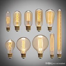 american vintage edison light bulbs tungsten wire light source pendant lights 110v 220v e27 brass lamp holder incandescent bulbs hanging lighting fixtures