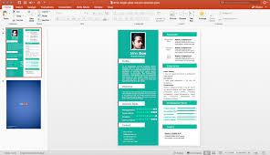 Powerpoint Resume Templates Extraordinary √ 28 Powerpoint Resume Template Free Download PowerPoint Templates