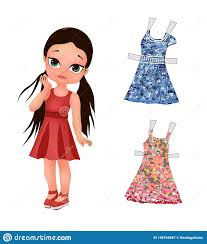 Fun Designing Clothes Games Cute Girl And Her Clothes Paper Girl Dressup Game Children