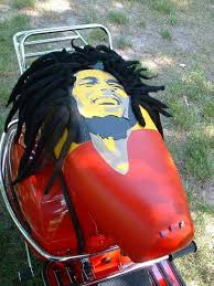 bob marley custom scooter seat cover by