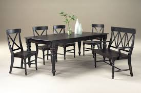 black wood rectangular dining table. Dining Room. Black Wooden Bench With Back Plus Rectangle Table And Chairs Wood Rectangular .