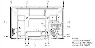 panasonic tv cord. disconnect the power cord, and remove rear panel: panasonic tv cord