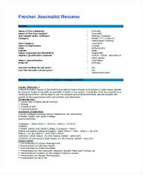 Indian Resume Format For Freshers Indian Resume Format For Freshers