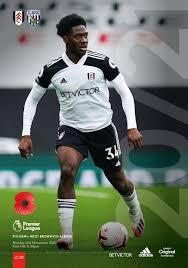 Fulham v West Bromwich Albion (EPL) 2 Nov 2020 – Press Box Publishing Ltd