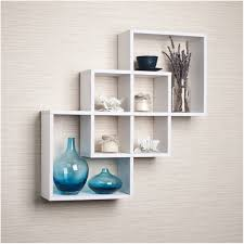 ... Wall Mounted Cube Shelving Units Floating Furniture Thin Strong  Material Smooth Painted Square White Wooden Rack ...