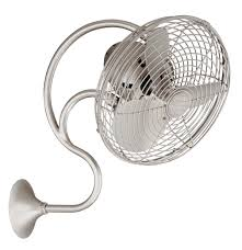 melody oscillating wall mount fan brushed nickel