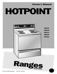 hotpoint rb525 range user manual manualzz