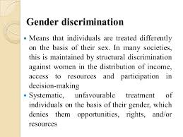 Definition of sex discrimination against women