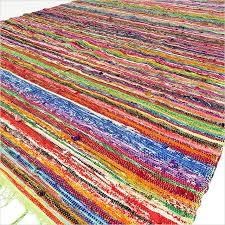 green colorful decorative woven bohemian boho area rag rug chindi 4 x 6 ft