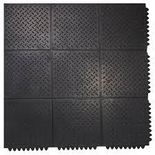 Rubber floor mats Bar Durable Antifatigue Interlocking Commercial Solid 37 In 37 In Rubber Floor Mat The Home Depot Envelor Durable Antifatigue Interlocking Commercial Solid 37 In