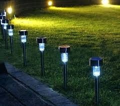 full image for set outdoor garden led outdoor path lighting landscape solar light outdoor path lighting