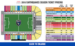 Avaya Stadium Seating Map San Jose Earthquakes