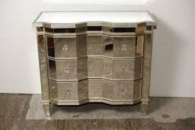 art deco mirrored serpentine chest drawers commode art deco mirrored furniture