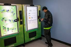 Dispensary Vending Machine Stunning America's First Zazzz Marijuana Vending Machine Opens In Seattle